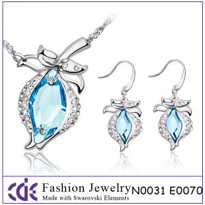 Fashion Crystal Jewelry Set N0031 E0070