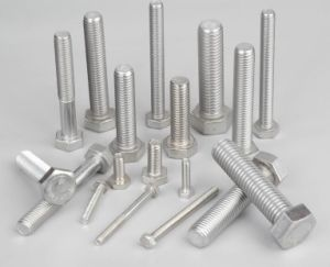 Uns S31803 S32750 Stud Bolts, S31803 S32750 S32760 Hex Bolts, DIN933 Bolts, D934 Nuts, Super Duplex Stainless Steel Bolts pictures & photos