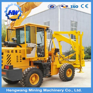 Barrier Safety Hydraulic Screw Pile Driver for Guardrail Installation pictures & photos