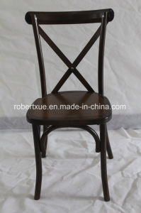 2017 Hot Sale Solid Wood Antique Classic X Cross Back Chair with Pillow or Cushion /Crossback Chair pictures & photos