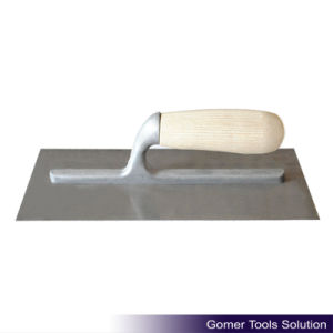 Carbon Steel Wood Handle Plastering Trowel (T08175)