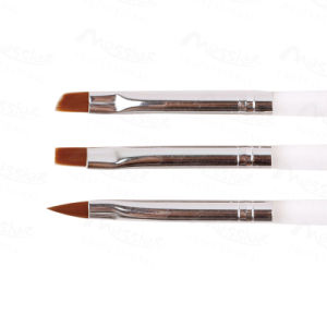 Professional Sable Brush 3X Acrylic UV Gel Nail Art Builder Brush Pen Set