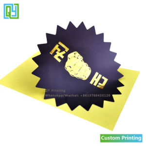 Custom Printing Cut Gold Foil Label Stickers For Licensee