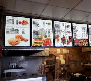 Aluminum Frame Magnetic Ultra Thin LED Backlight Restaurant Menu Board