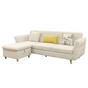 Lesso Home 3 Seater Fabric Ottoman Sofa