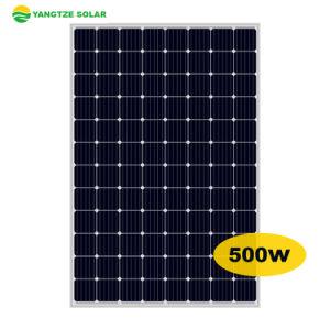 Yangtze Grade a Highest Efficiency 500W Mono Crystalline Solar Panels Hot Sell