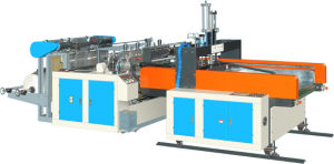 Computer Hot Cutting Double Line Automatic Punching Bag Maker