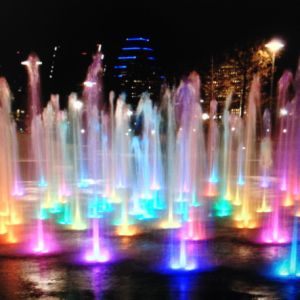 Colorful Square Ground Light Fountain