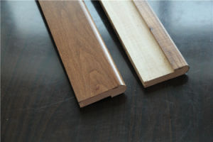 China Oak Hardwood Flooring Stair Nosing Skirting Wood Tread