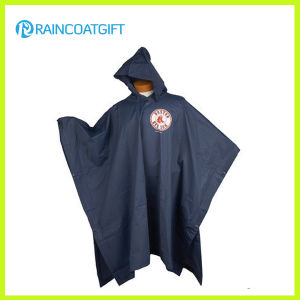 Promotional Black PVC Rain Ponchos with Logo Printing pictures & photos