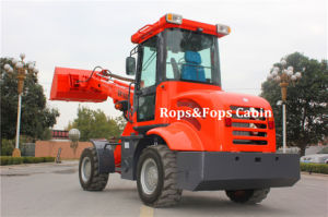 Telescopic Compact Loader Er1500 with Pallet Forks pictures & photos