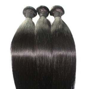 8A Natural Color Straight Brazilian Virgin Human Hair Weft pictures & photos