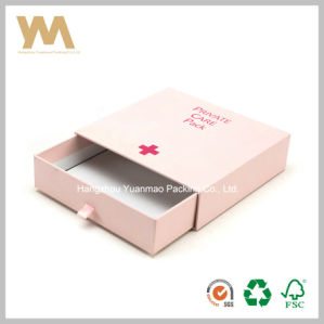 Pink Cosmetics Drawer Paper Box with Ribbon pictures & photos