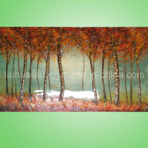 Handmade Modern Group Palette Knife Impasto Landscape Oil Painting on Canvas, Woodland, Trees (LH-140000)