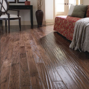 Handscraped Vinyl Plank Laminated Laminate Wood Wooden Flooring pictures & photos