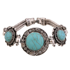Fashion Delicate Silver Turquoise Jewelry Bracelet