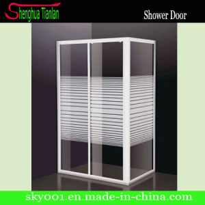 Rectangle Sliding Stripe Glass Shower Door (TL-410) pictures & photos