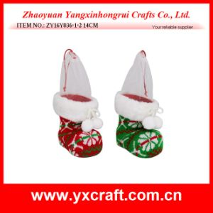 Christmas Decoration (ZY16Y036-1-2 14CM) Knitted Christmas Flower Christmas Party pictures & photos