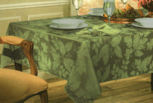 Green Color Jacquard Table Cover St114 pictures & photos
