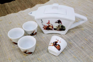 White Ceramic Tableware Teapot Gift Set (CC-TP23)