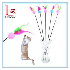 Pet Products Feathers Tease Stick with Colour Ball Cats Toys pictures & photos