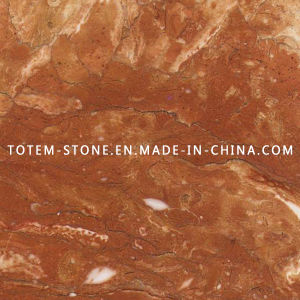 Natural Polished Tea Rose Marble Tiles for Paving, Slab, Countertop