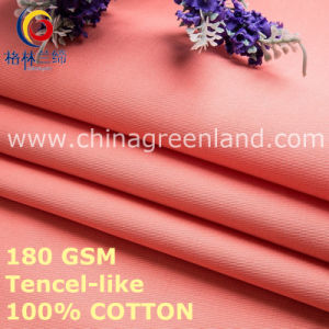 Solid Cotton Tencel-Like Fashion Fabric for Clothes Textile (GLLML458) pictures & photos