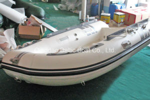 Fiberglass Rib Inflatable Row Boat Ce 330