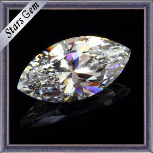 Marquise Shape White Cubic Zircon Gemstone pictures & photos