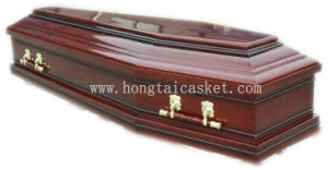 Cheaper Wooden Coffin for Funeral (HT-0811 DARK RED)