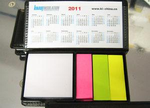 china pu leather case sticky note with calendar china sticky notes
