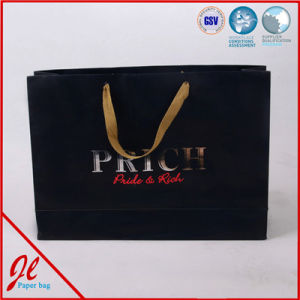 Customer Logo Printed Shopping Bag, Gift Bag, Paper Bag with Handle pictures & photos