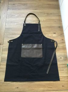 China Factory Black Work Denim Leather Apron for Sale
