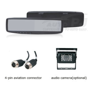 "4.3"" Clip-on Audio Mirror Monitor for Commercial Vehicles (TM-4328A-CV)"