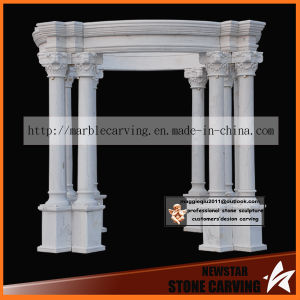 White Columns Marble Carving Gazebo Ns025 pictures & photos