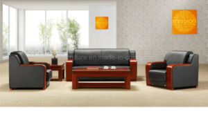 Leather Antique Sofa Set With Wooden Frame Hy S923