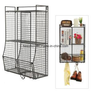 Wall Mounted Metal Wire Mesh Storage Basket