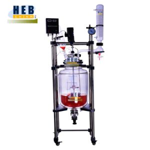 Heb-50L New Type Jacketed Glass Reactor with Chiller pictures & photos