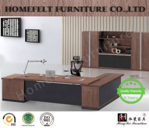 Modern Furniture Wooden Executive Table Office Desk With Side Cabinet