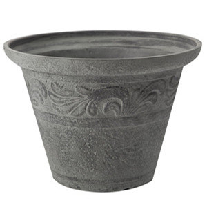 Gery Plastic Pot for Garden Decoration
