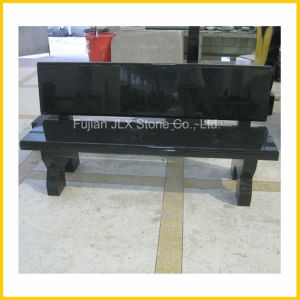Black Granite Stone Garden Bench Outdoor Furniture