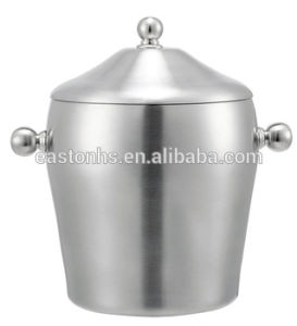 Brushed Stainless Steel Ice Bucket with Handle for Bar Counter pictures & photos