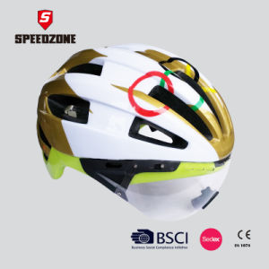 Speedzone Integrated Ultralight Adult Bike Helmet with Sun Glasses pictures & photos