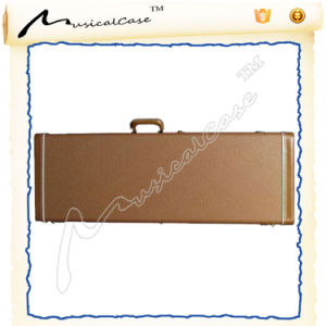 High Grade Leather Exterior Wood Electric Guitar Case pictures & photos