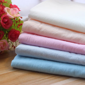 Washed Cotton Woven Textile 100 Cotton Fabric for Garment
