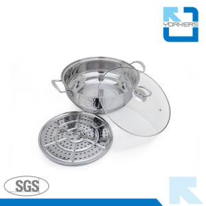 30cm/32cm Cheap Price stainless Steel Steamer Pot / Hot Pot pictures & photos