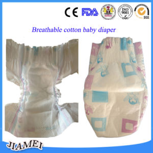 Breathable High Quality Baby Diapers with Magic Tapes Factory Supplying pictures & photos