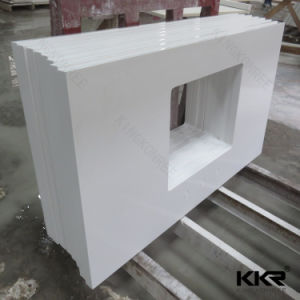 Mould Made Acrylic Solid Surface Stone Bathroom Vanity Tops (171222) pictures & photos