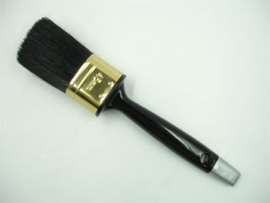 Top Quality Black Bristle Oval Brush with Plastic Handle pictures & photos