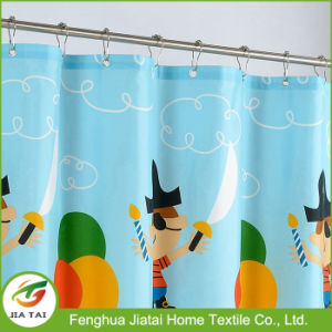 Bright Color Cartoon Pattern Waterproof Bath Shower Curtain
